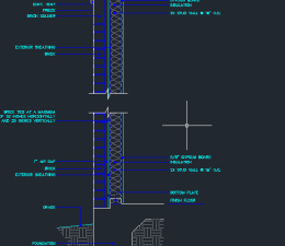 Non-Bearing 2x4 Wood Wall Plan Type Detail - CAD Files, DWG files, Plans  and Details