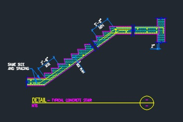 Concrete Stair Detail - CAD Files, DWG files, Plans and Details