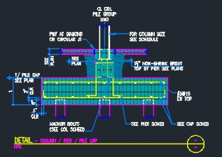 Column Pier Pile Cap Cad Files Dwg Files Plans And