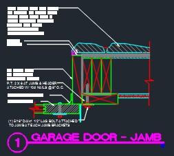 Garage Door Jamb Detail CAD Files DWG files Plans and Details