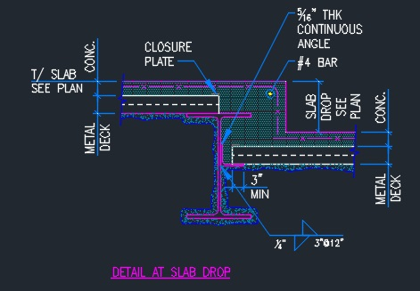 Slab Drop Detail Typical Cad Files Dwg Files Plans