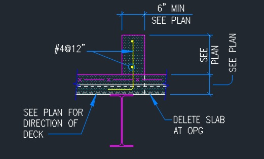 Curb Detail On Concrete And Metal Deck Typical Cad Files