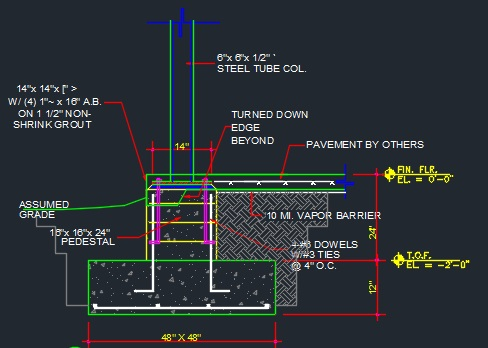 Slab Column Typical Cad Files Dwg Files Plans And Details