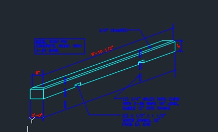 Concrete Wheel Stop Detail Typical Cad Files Dwg Files