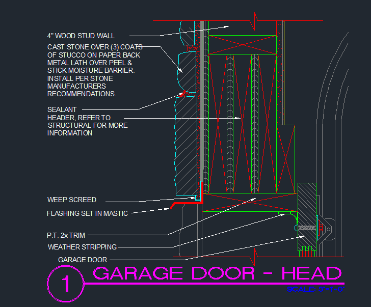 Garage Door Head Detail Cad Files Dwg Files Plans And
