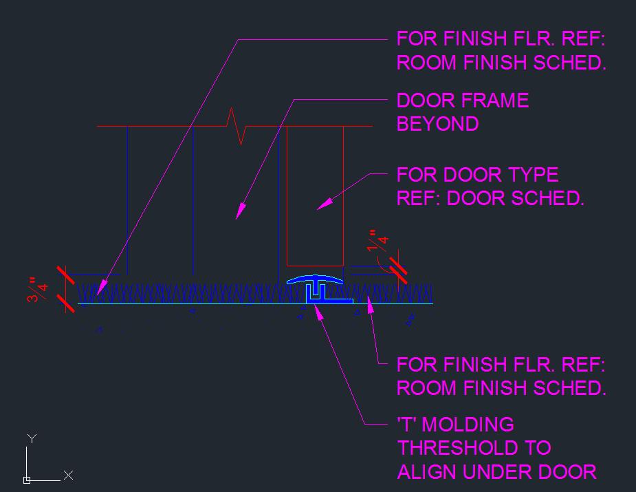 Door Threshold T Mold Pvc Detail Cad Files Dwg Files