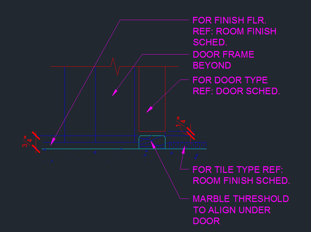 Door Threshold Marble Transition Cad Files Dwg Files