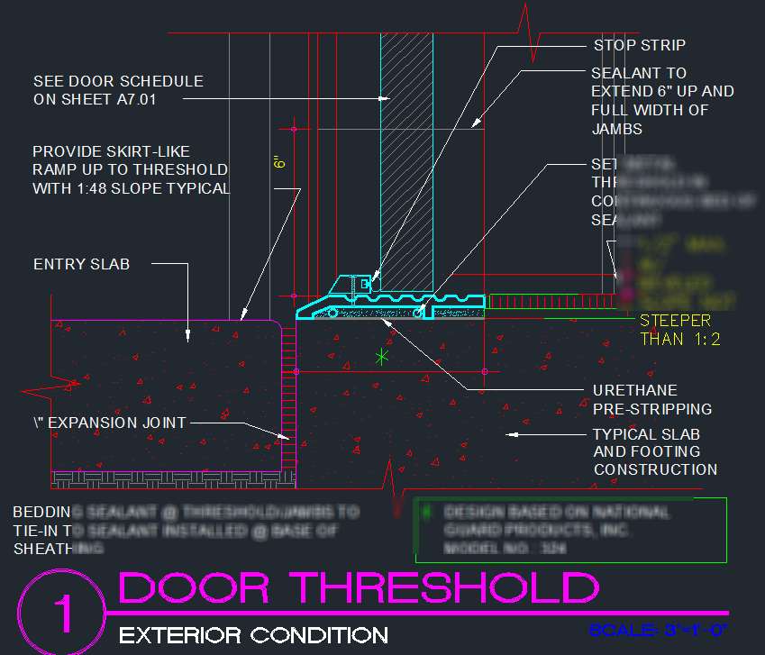 Door Threshold Detail Cad Files Dwg Files Plans And Details