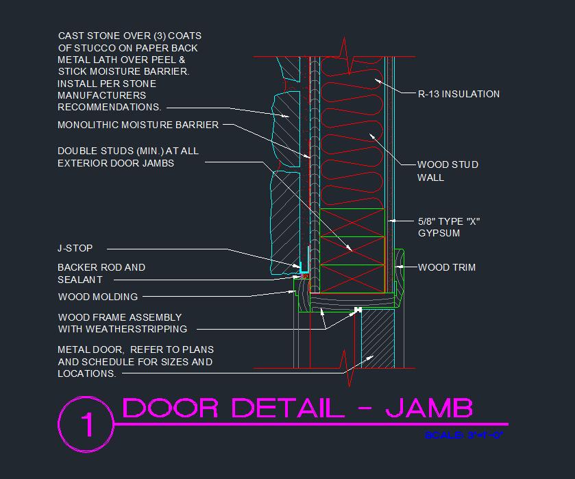 Sliding Door Section Cad Sliding Door Designs