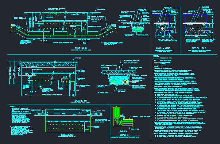 ELECTRICAL DIRECT BURIAL CABLE INSTALLATION DETAILS CAD Files DWG