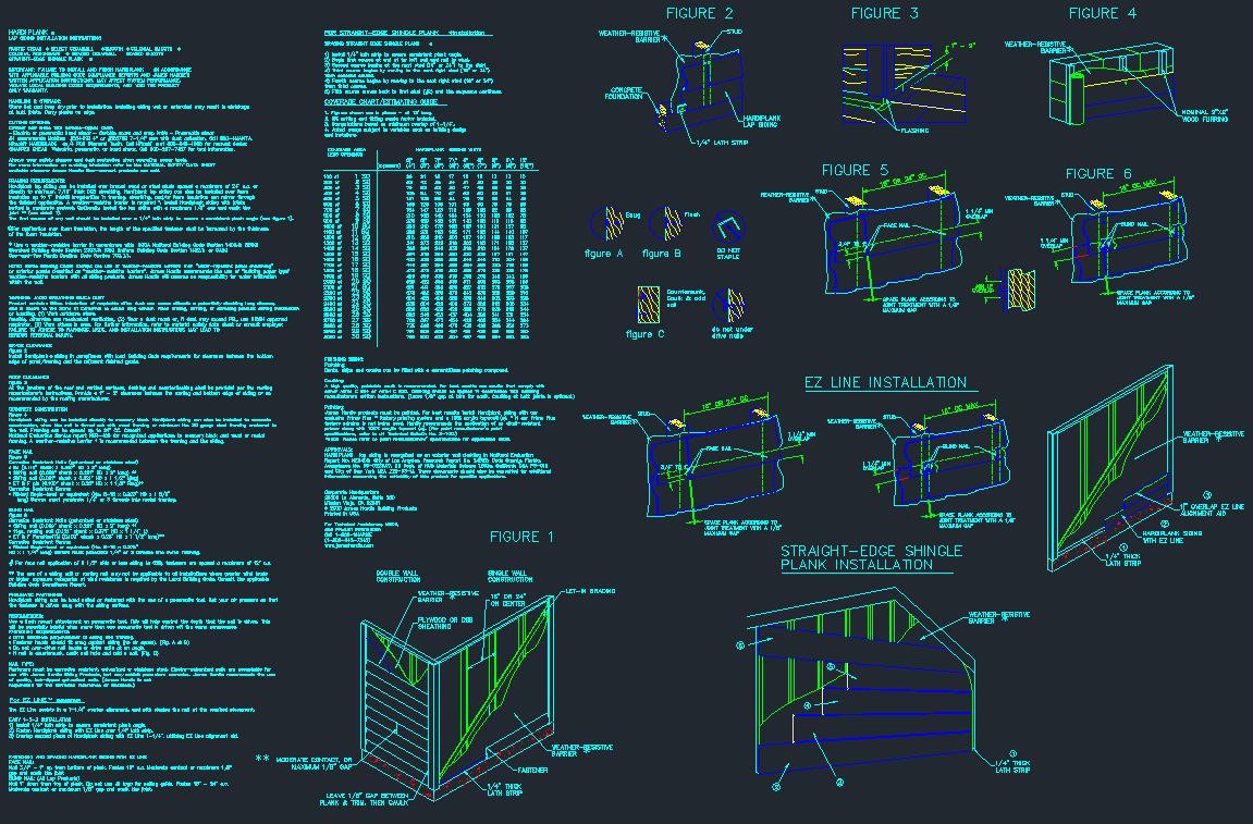 Hardiplank Siding Installation Detail Sheet - CAD Files, DWG files ...