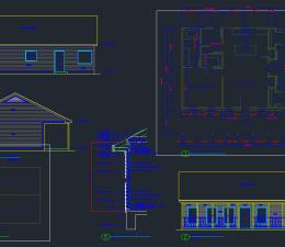 House Plan Set- 3-2 Cabin