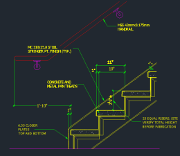Tread Riser Detail Dimensions Cad Files Dwg Files
