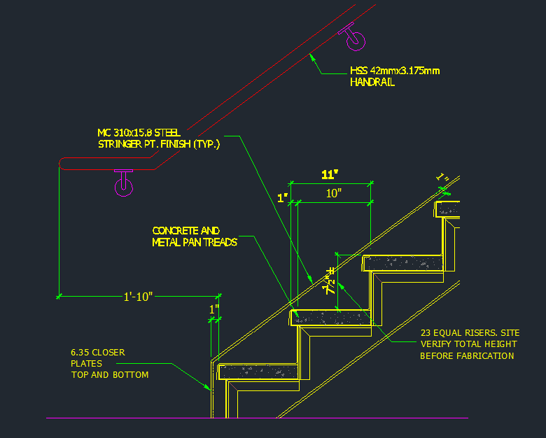 Tread Riser Detail   Dimensions   CAD Files, DWG Files, Plans And Details