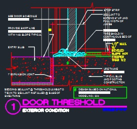 Door Threshold Detail Cad Files Dwg Files Plans And