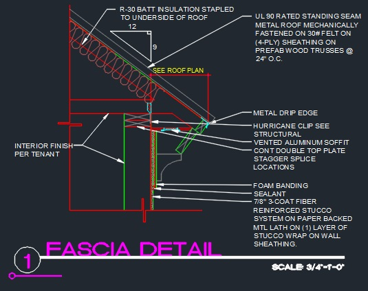 Roof Fascia Edge Detail Cad Files Dwg Files Plans