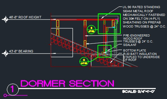 Dormer Section Roof Detail Cad Files Dwg Files Plans