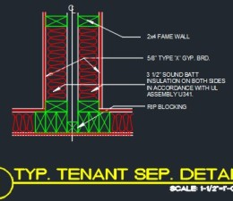 Wall section 2 story wood frame cad files dwg files for Ul u341