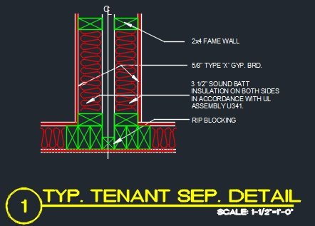 Tenant Separation Detail Cad Files Dwg Files Plans And