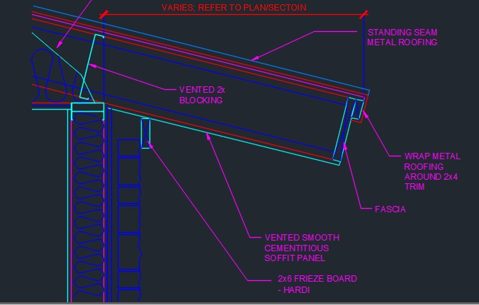 Rafter Extension Detail Cad Files Dwg Files Plans And