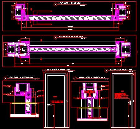 Sliding Door Amp Leaf Detail Cad Files Dwg Files Plans