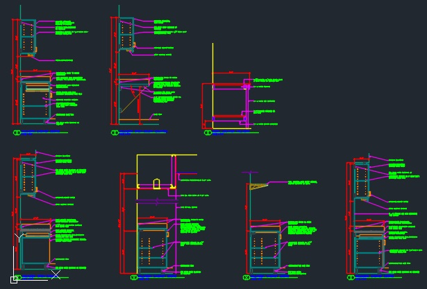Millwork Section Details Cad Files Dwg Files Plans And