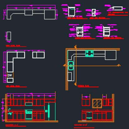 Kitchen And Cabinets Section Detail Cad Files Dwg Files