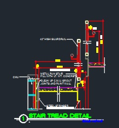 Stair Tread Detail - CAD Files, DWG files, Plans and Details