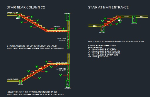 Concrete Stair Sections - CAD Files, DWG files, Plans and Details