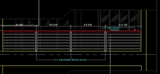 Balcony Railing Elevation And Detail Cad Files Dwg