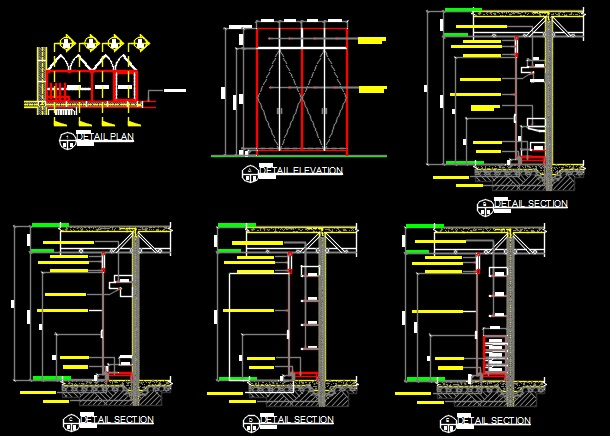 Closet Custom Built In Plans Amp Details Cad Files Dwg