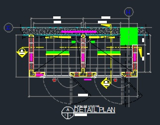 Garbage Holding Trash Enclosure Plan And Section Details