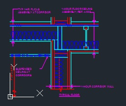 Wall section 2 story wood frame cad files dwg files for 1 hour floor ceiling assembly