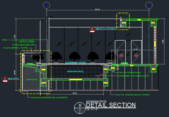 Swimming Pool Plan Section And Details Cad Files Dwg