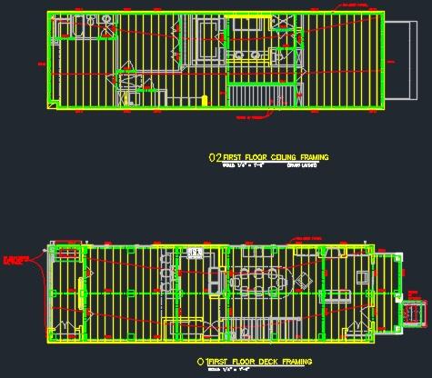 Structural Set Of Plans Foundation Amp Framing Cad Files
