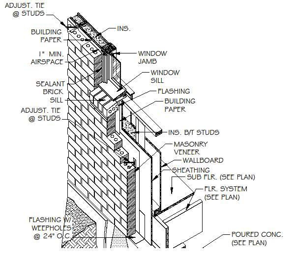 Brick details CAD, Revit, etc. from PlanMarketplace