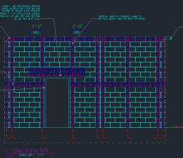 CMU Wall Detail Elevation