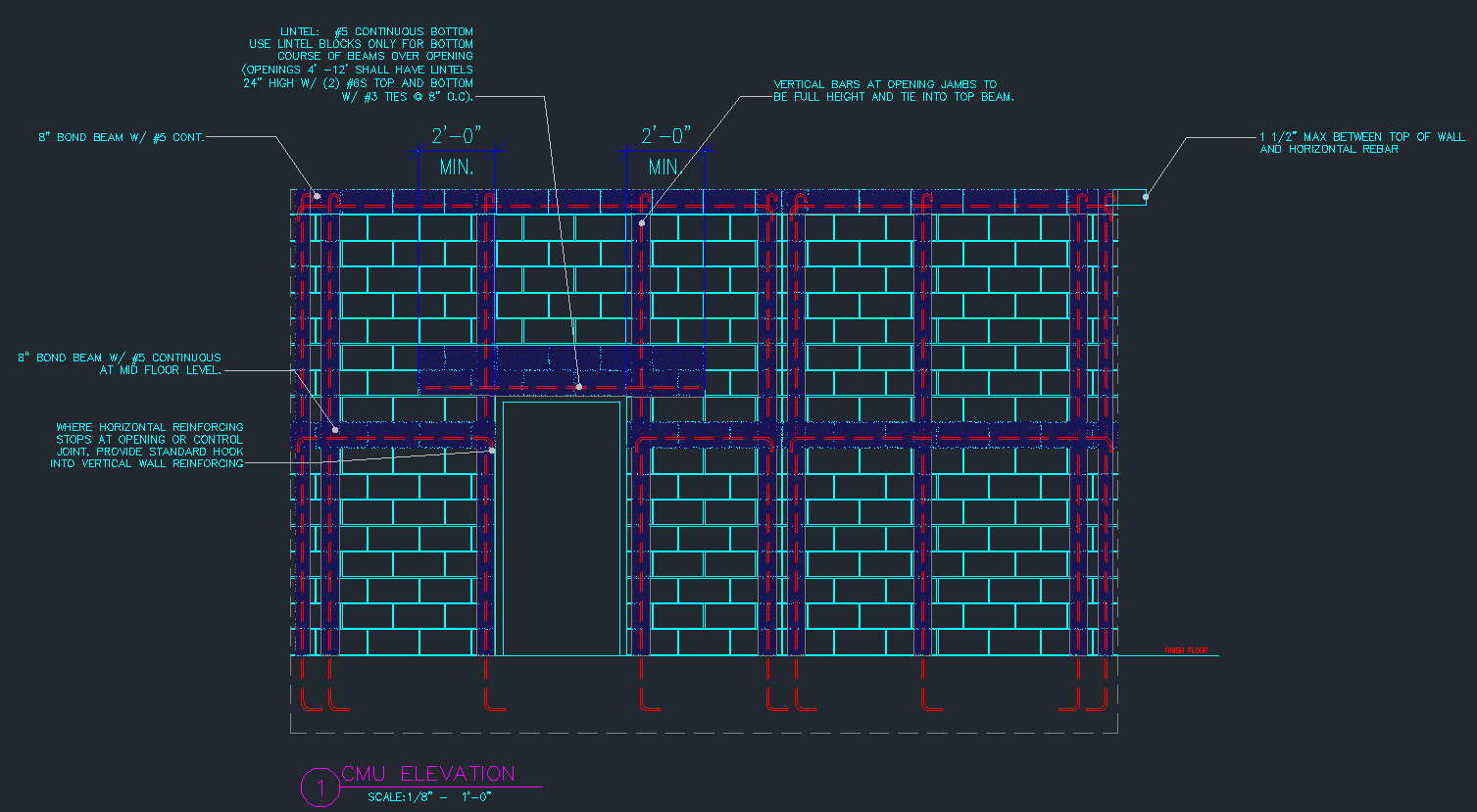 Stone Wall Elevation Cad : Cmu wall details exterior finish cad files dwg