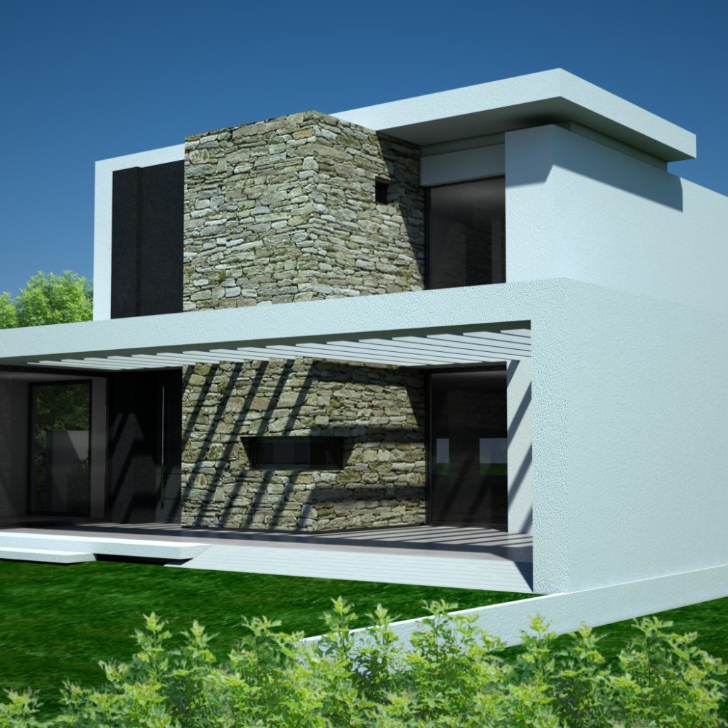 3d modern house - CAD Files, DWG files, Plans and Details