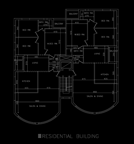 RESIDENTIAL BUILDING DESIGN - CAD Files, DWG files, Plans and Details