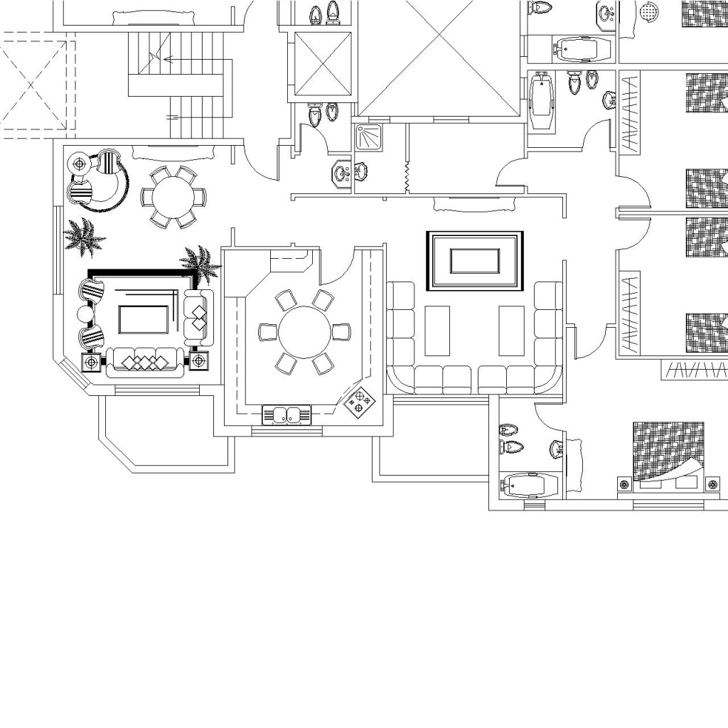Apartment floor plans dwg apartment floor plan autocad for Apartment plans dwg format