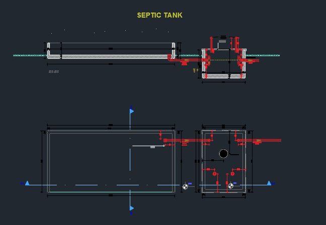 Septic Tank Detail Cad Files Dwg Files Plans And Details
