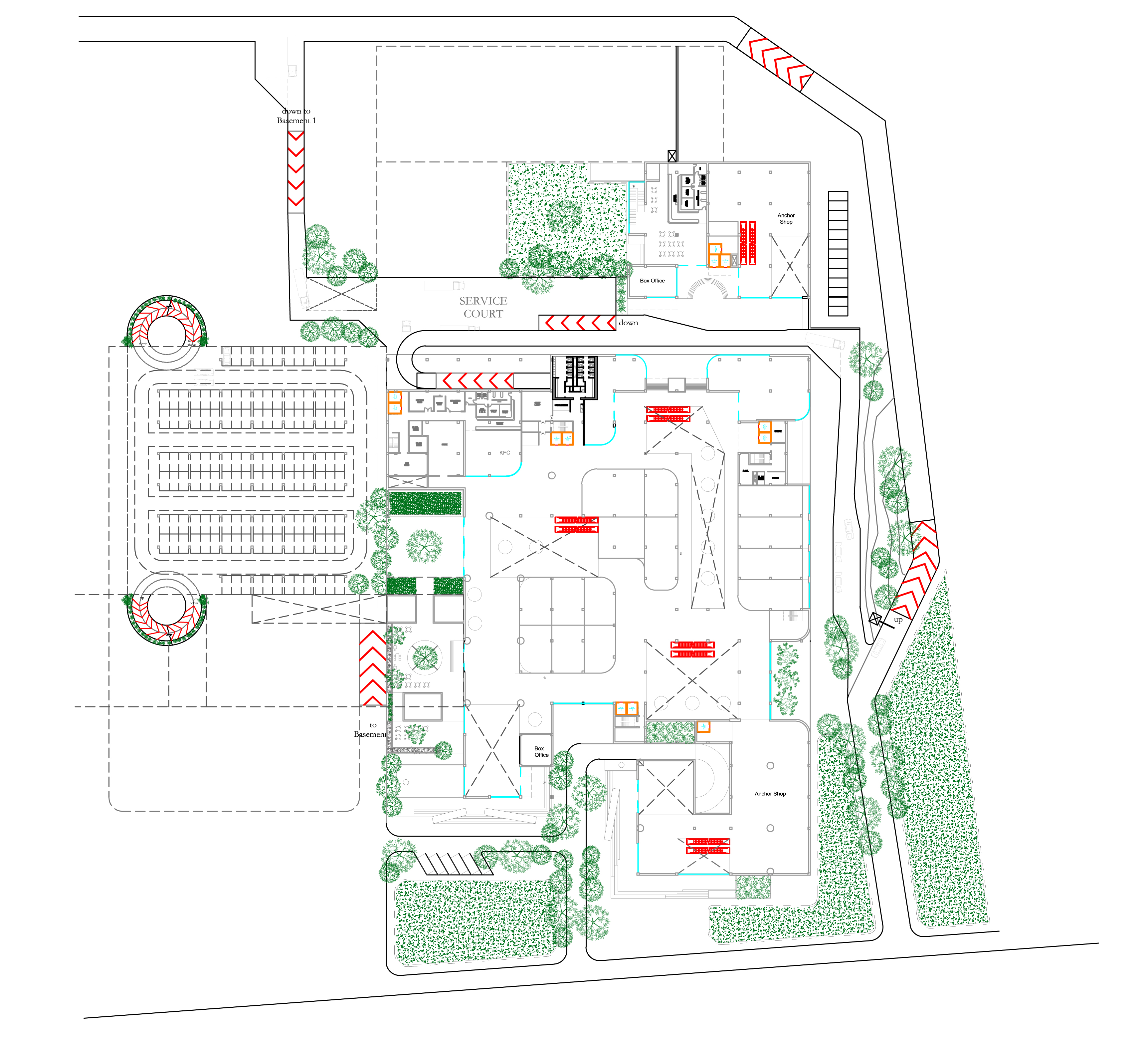 Shopping Mall With Multilevel Car Parking Cad Files Dwg Files
