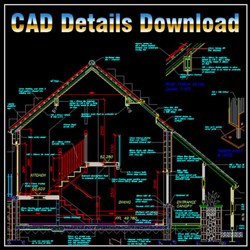 House Section Cad Files Dwg Files Plans And Details