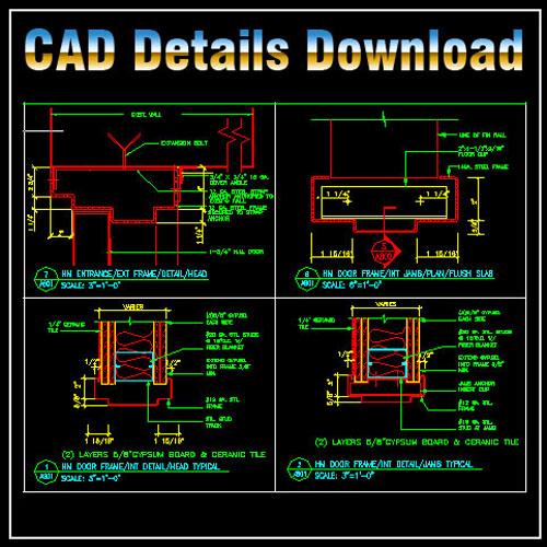 Door Jamb Details】★ Cad Files Dwg Files Plans And Details