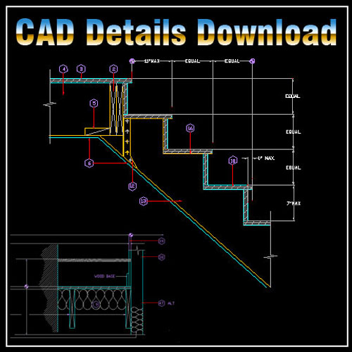 Stair Details Cad Files Dwg Files Plans And Details