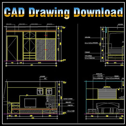 Master room design template cad files dwg files for Dwg templates free download