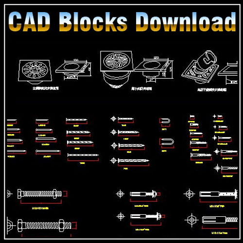 ★【Hardware Blocks Bundle】★ - CAD Files, DWG files, Plans and Details