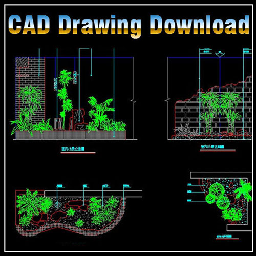 Landscape design cad files dwg files plans and details for Interior design cad free