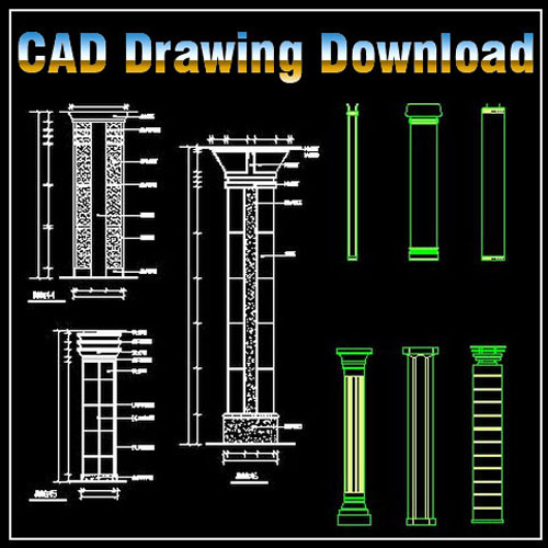 Column Design Drawing CAD Files DWG Plans And Details